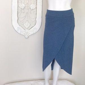 Athleta   Blue Ribbon Wrap Stretch Midi Skirt XXS